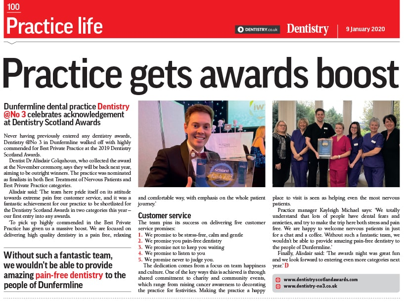 Dentistry magazine for no3